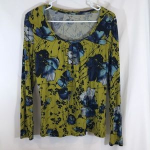 Like New! Worn Once Apt Nine Green Floral Top